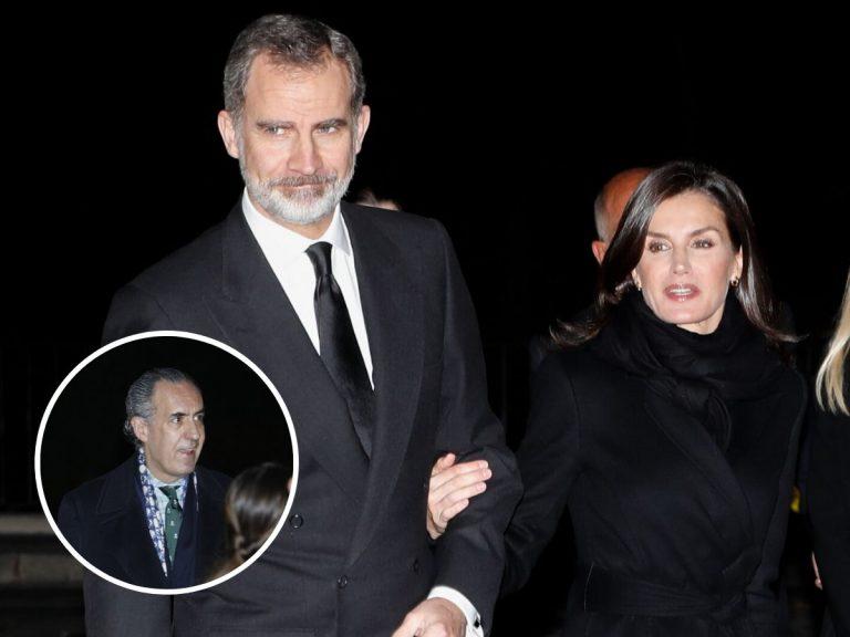 Los Reyes Felipe y Letizia coinciden con Marichalar en el funeral de Plácido Arango