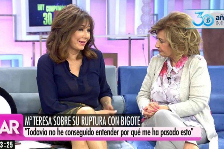 La pullita de María Teresa Campos a Bigote Arrocet en su cita con Ana Rosa Quintana