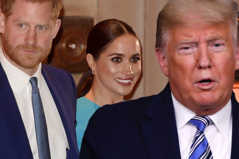 Donald Trump, el azote del príncipe Harry y Meghan Markle en Los Ángeles