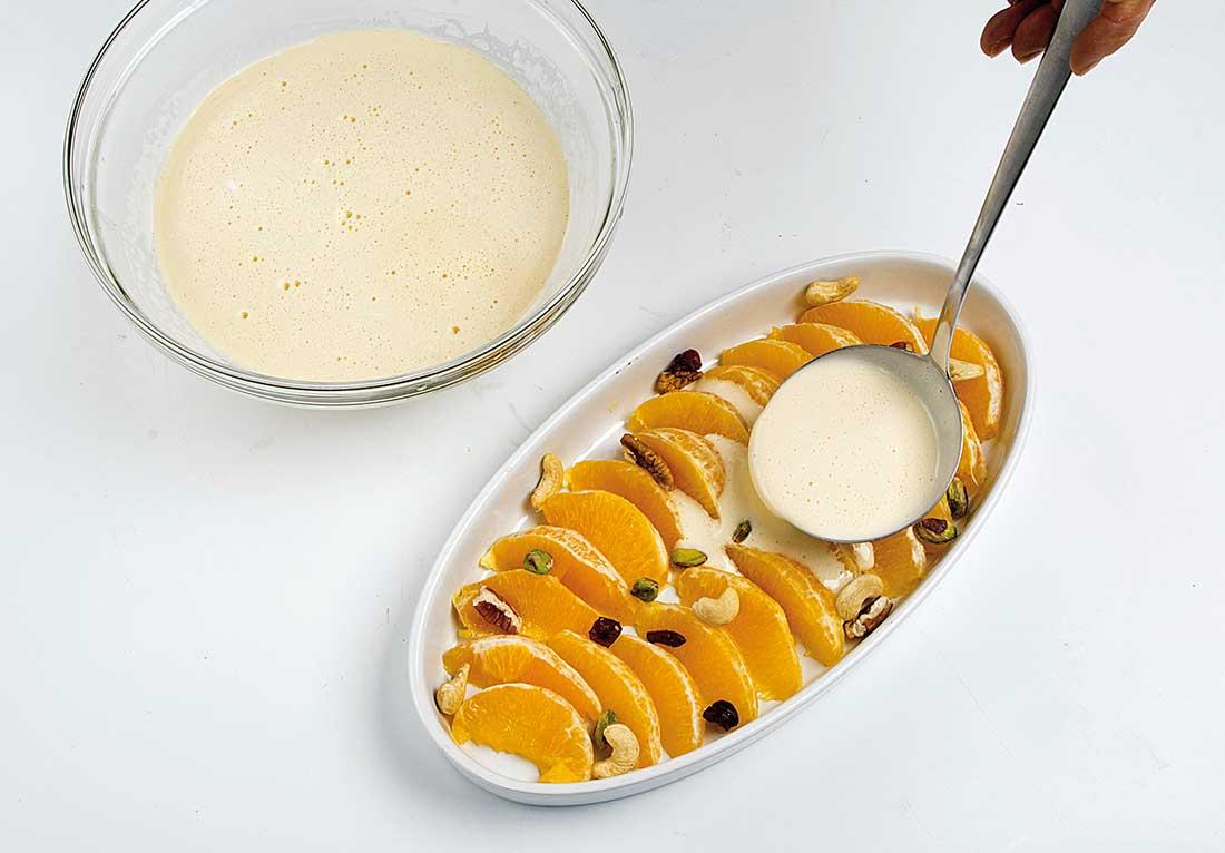 Clafoutis de naranja
