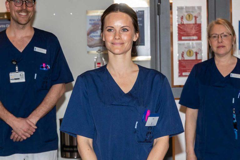 Sofía de Suecia trabaja en un hospital como enfermera