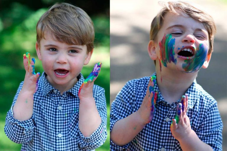Louis de Cambridge se pinta de arcoiris por su segundo cumpleaños