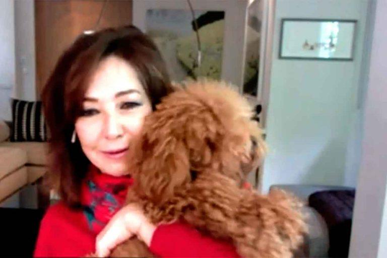 Ana Rosa Quintana habla desde su casa, pero su perro le roba todo el protagonismo