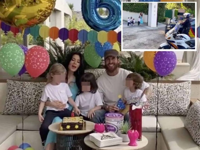 La Policía sorprende al hijo de Pilar Rubio y Sergio Ramos por su cumpleaños