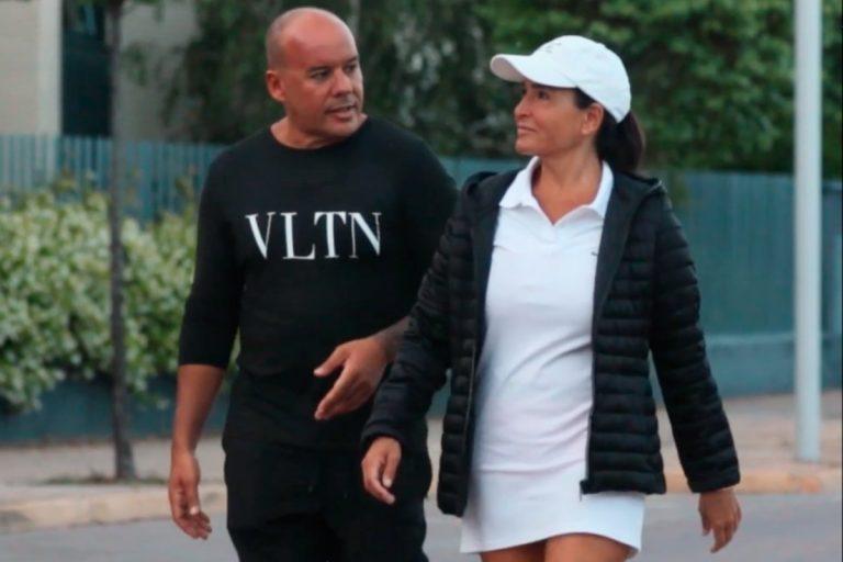 Aída Nízar reaparece paseando con su novio tras su detención