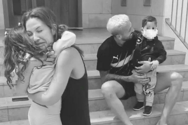 El emocionante reencuentro de Tamara Gorro con sus hijos después de dos meses separados