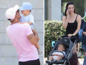 Adara y Hugo Sierra disfrutan de su hijo por separado en su regreso a Mallorca