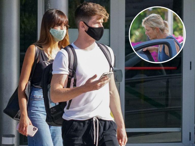 Ana Duato recoge a Aitana y Miguel Bernardeau a su llegada a Ibiza