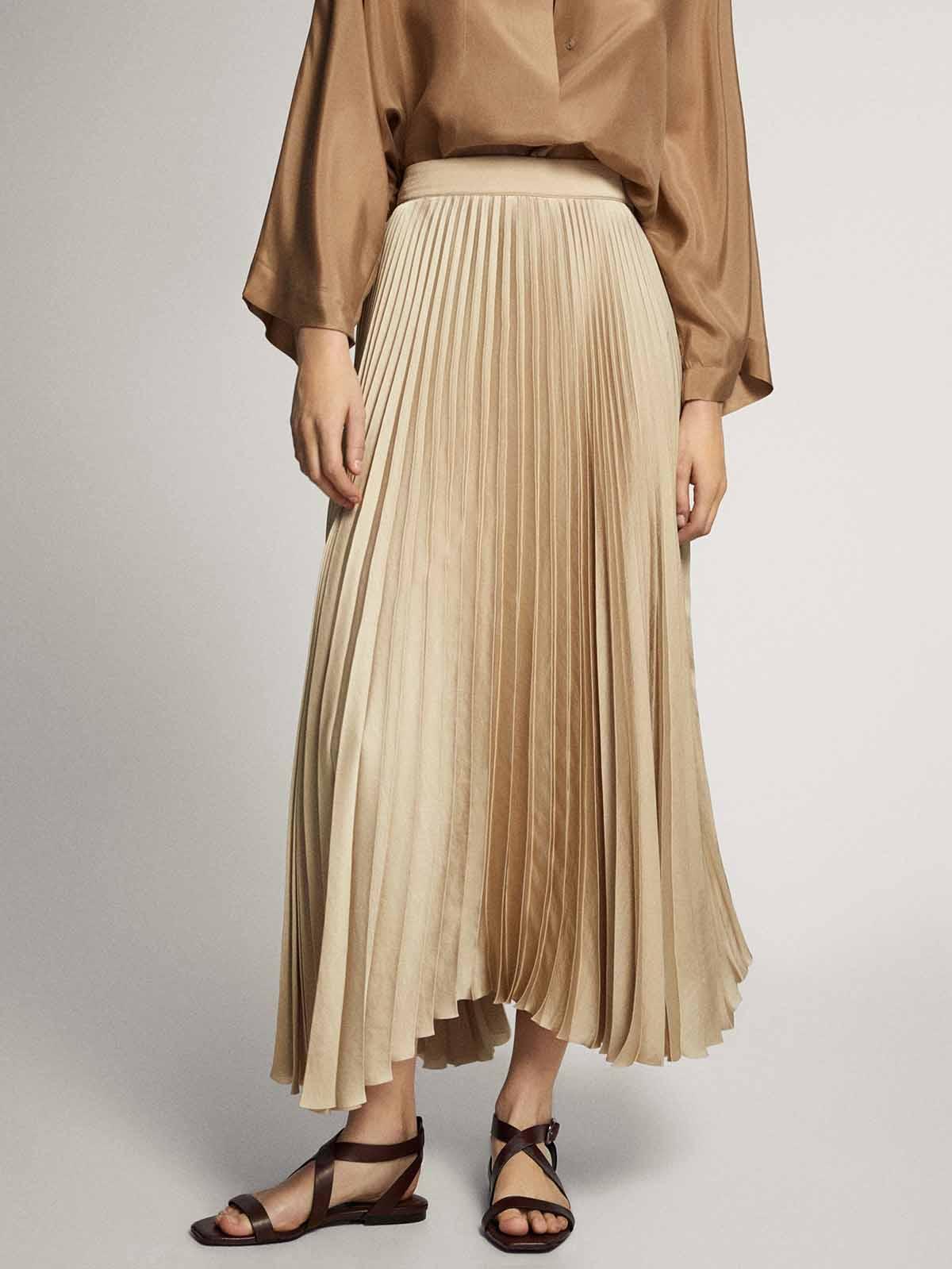 Falda plisada 59,95 euros