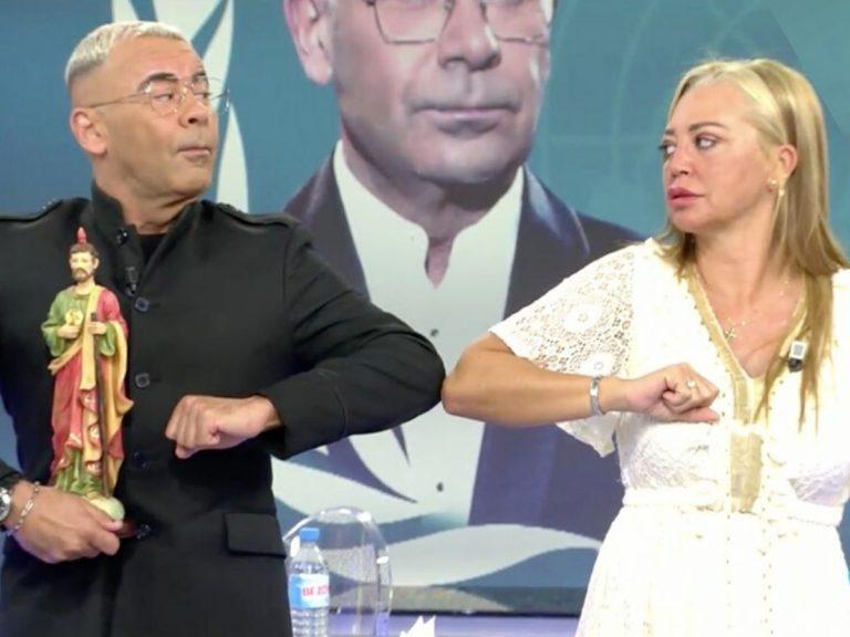 Belén Esteban y Jorge Javier Vázquez hacen las paces tras su bronca