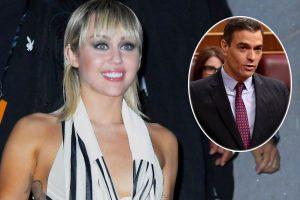Miley Cyrus pide ayuda a Pedro Sánchez para combatir contra el coronavirus