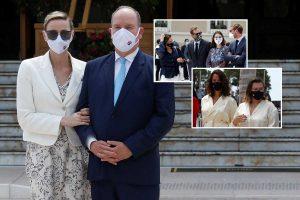 La familia real de Mónaco (con notables ausencias) reaparece muy protegida en su vuelta a la vida pública
