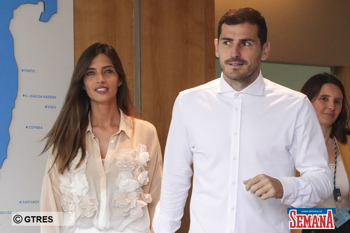 Soccerplayer Iker Casillas with Sara Carbonero receiving hospital discharge after a heart attack in Porto, Portugal, Monday, May 6, 2019.
