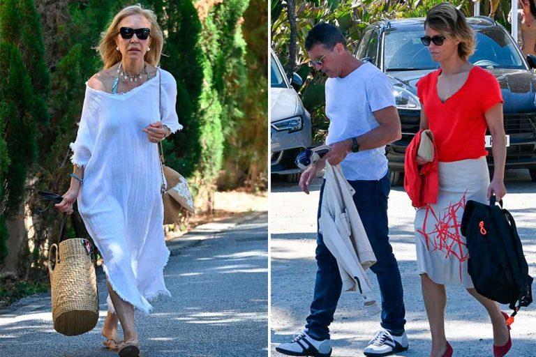 Antonio Banderas y Carmen Lomana ya están de vacaciones en Marbella