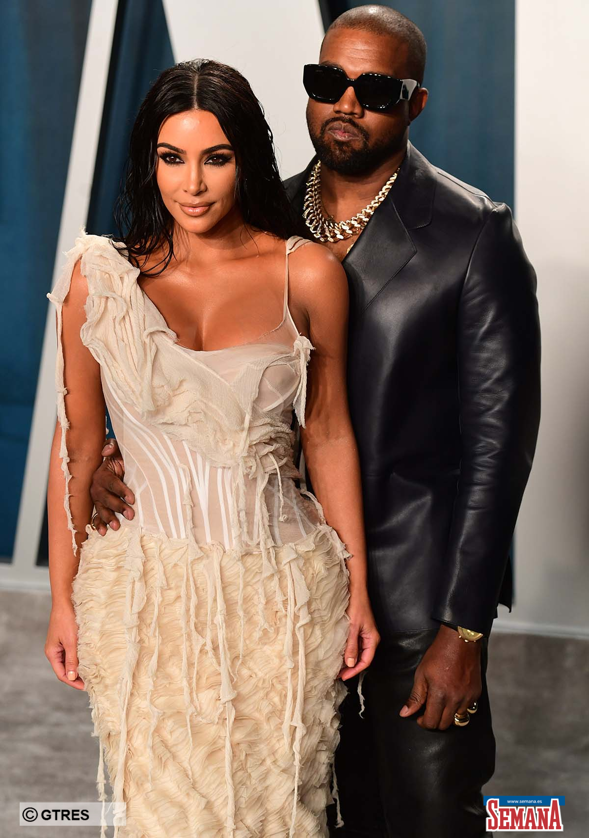 Kim Kardashian and singer Kanye West attending the Vanity Fair Oscar Party 2020  on February 9, 2020 in Beverly Hills, CA.