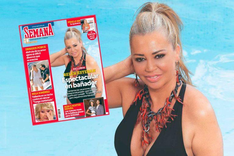 En SEMANA, Belén Esteban, espectacular en bañador