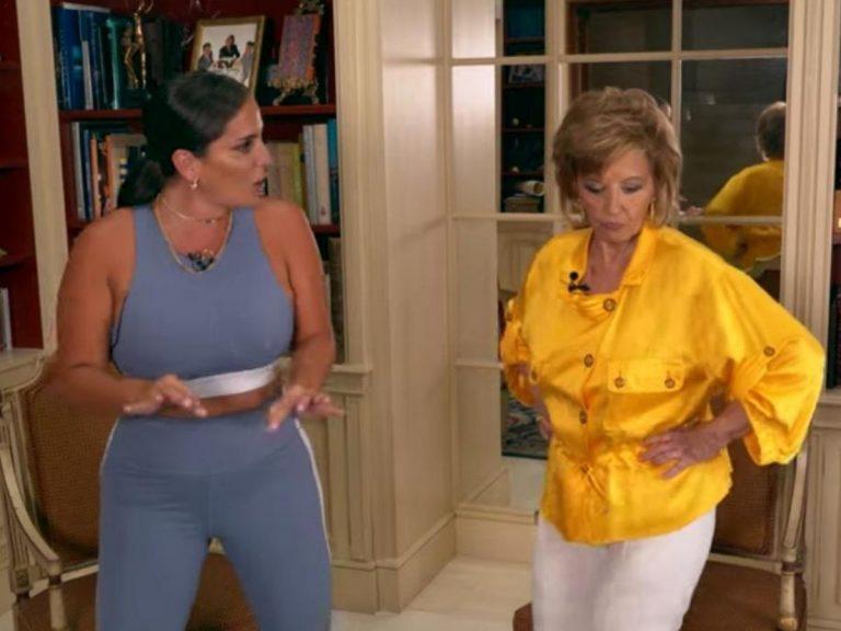 El divertido baile de María Teresa Campos y Anabel Pantoja a ritmo de Kiko Rivera