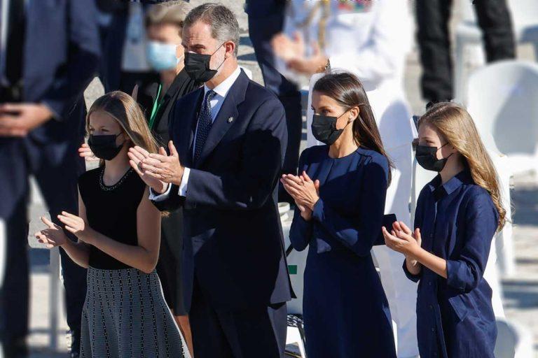 La Familia Real preside el emotivo homenaje a las víctimas de la pandemia