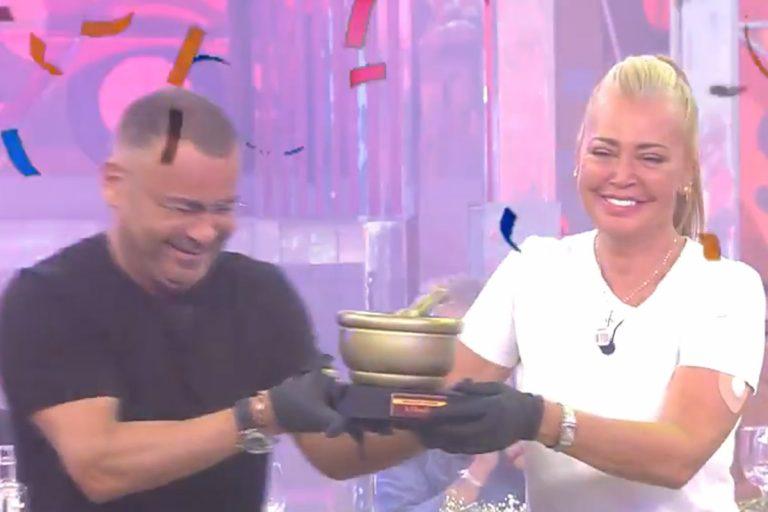 Belén Esteban y Jorge Javier Vázquez, ganadores de 'La Última Cena'