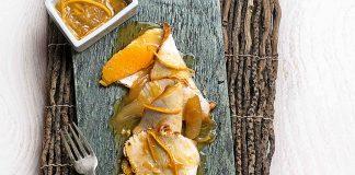 babilla de cerdo a la naranja