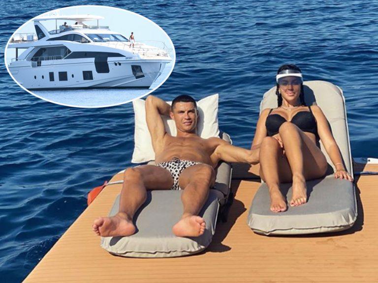 Las lujosas vacaciones de Cristiano Ronaldo y Georgina Rodríguez en un yate de 6 millones de euros, en fotos
