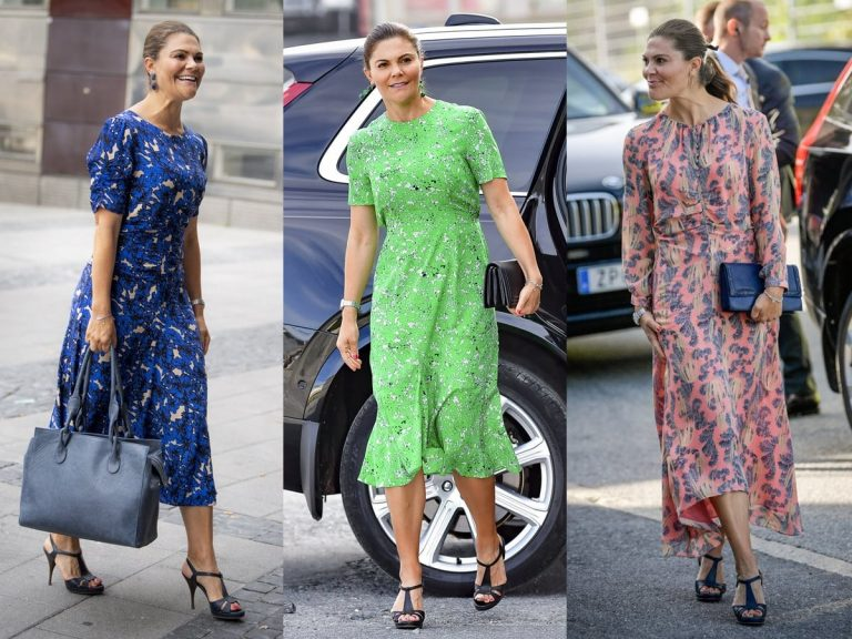 La obsesión de Victoria de Suecia por los vestidos de flores