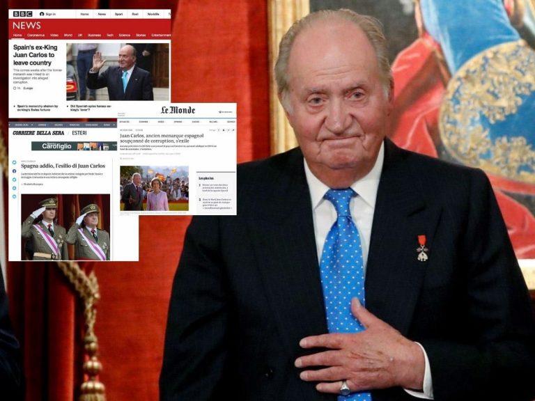 Así ha reaccionado la prensa internacional a la marcha del Rey Juan Carlos al extranjero