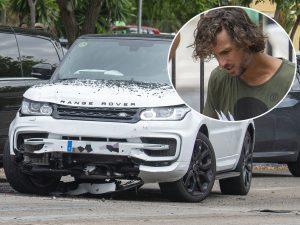 Todas las fotos del aparatoso accidente de tráfico de Feliciano López en Marbella