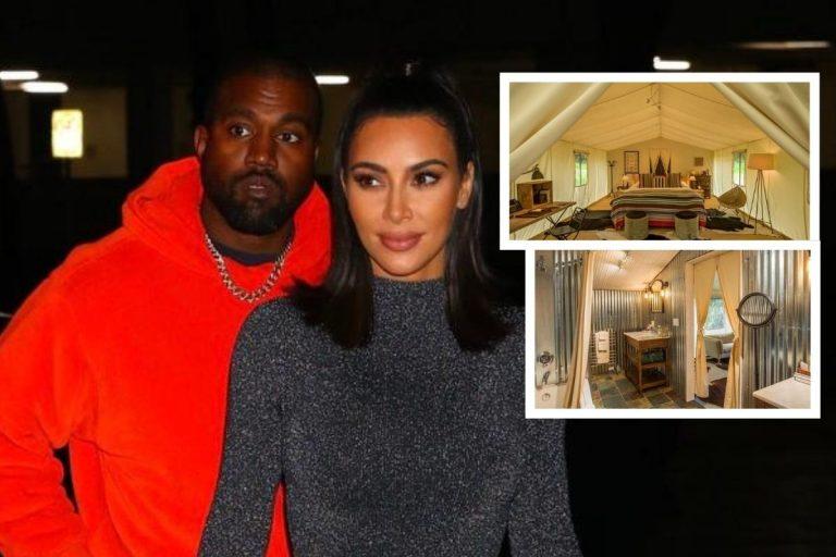 Nos colamos en el lujoso camping en el que Kim Kardashian y Kanye West intentan arreglar su matrimonio