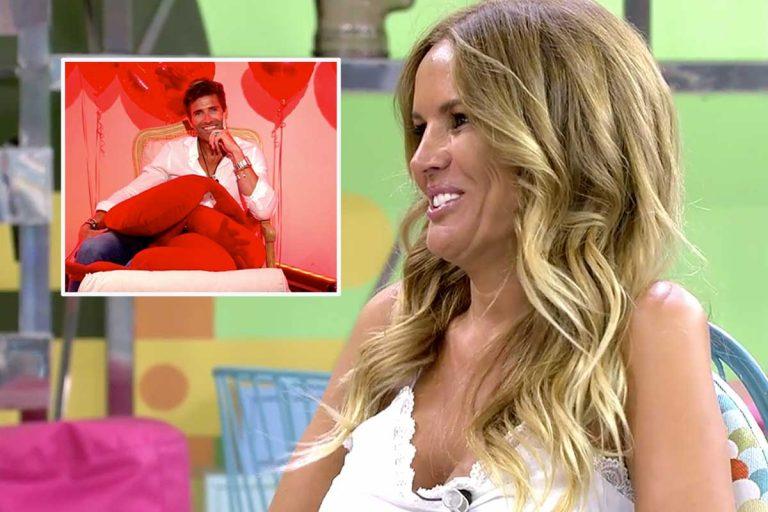 Marta López y Efrén Reyero, juntos, por primera vez, en un plató de televisión tras su fin de semana de amor