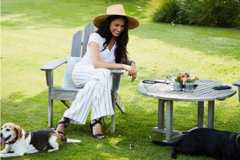 Meghan Markle, entrevista con el look más cool en el jardín de su nueva casa