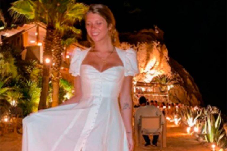 Anita Matamoros se viste de novia en su última noche en Ibiza