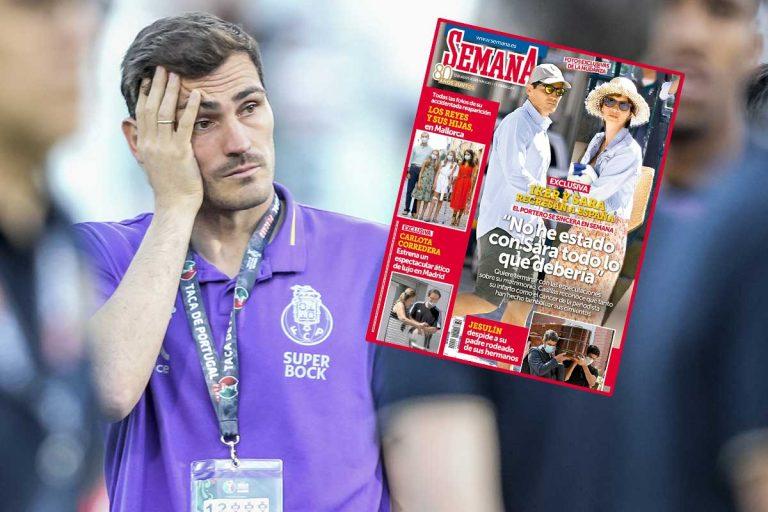 Iker Casillas se sincera en SEMANA: «No he estado con Sara Carbonero todo lo que debería»