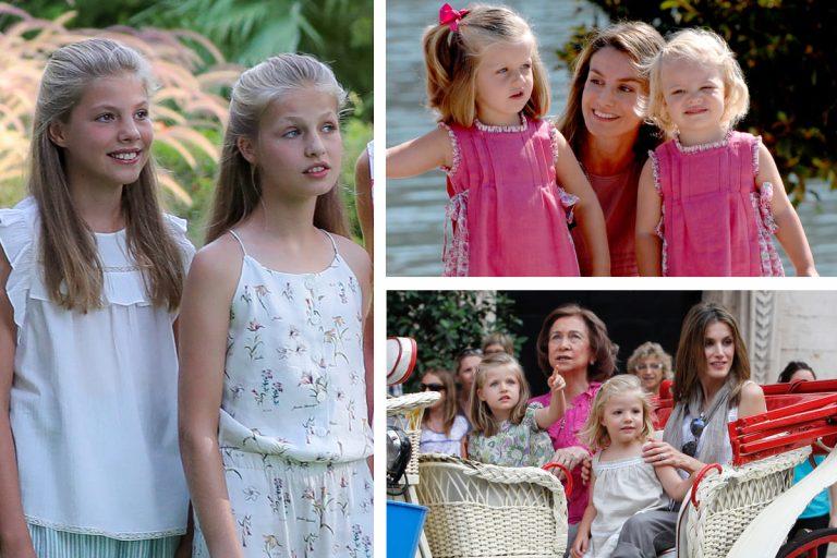 14 años de los posados de verano de los Reyes, en imágenes: Así han crecido Leonor y Sofía