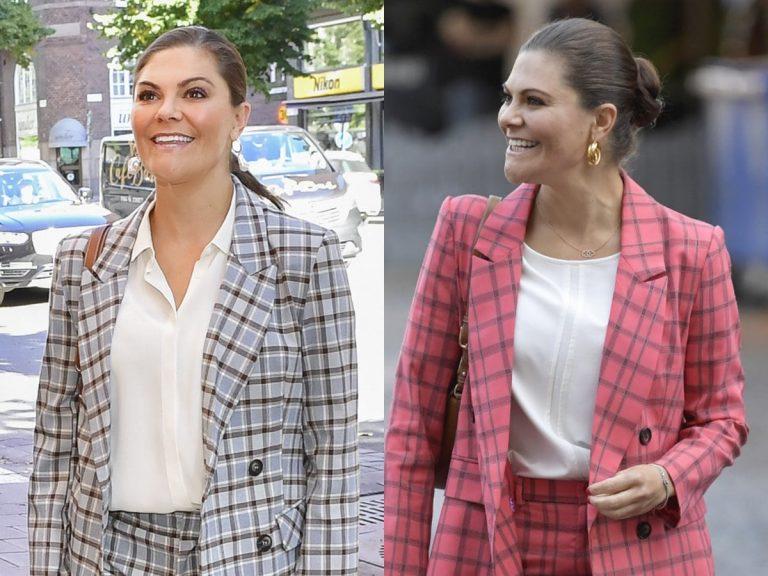 Victoria de Suecia repite fórmula y vuelve a optar por el traje de cuadros más elegante