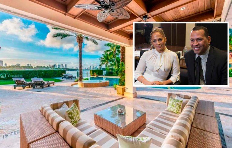 Jennifer Lopez y Álex Rodríguez compran una mansión en Miami por 28 millones de euros