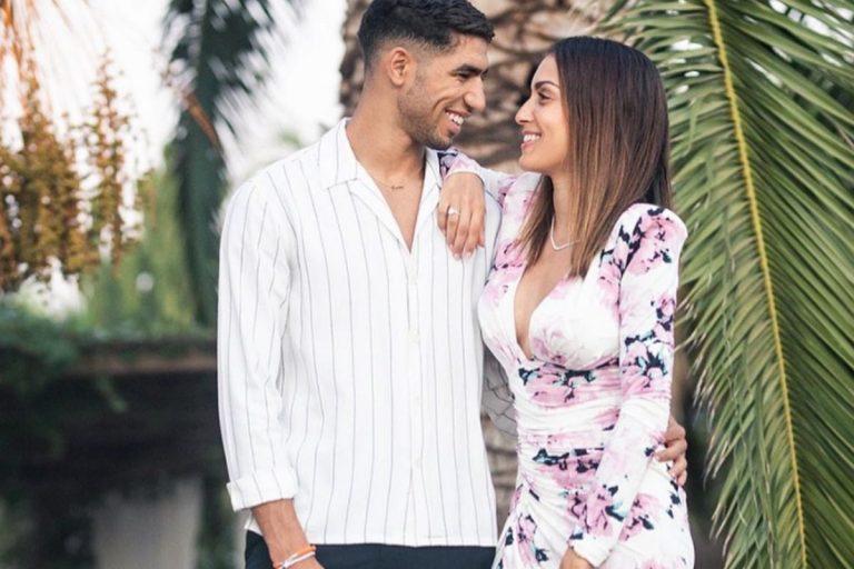 Fotos del día: La romántica felicitación de Achraf Hakimi a Hiba Abouk: «Gracias por quererme»
