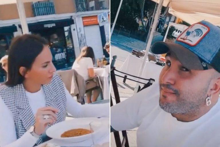 Kiko Rivera e Irene Rosales, ajenos a la polémica, disfrutan de una comida familiar junto a Manuel Cortés y Junquera
