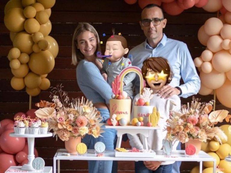 Laura Escanes y Risto Mejide celebran el primer cumpleaños de su hija Roma