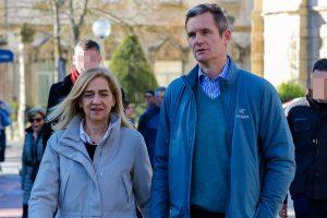 Polémica por el viaje de la infanta Cristina a Vitoria para visitar a Iñaki Urdangarin