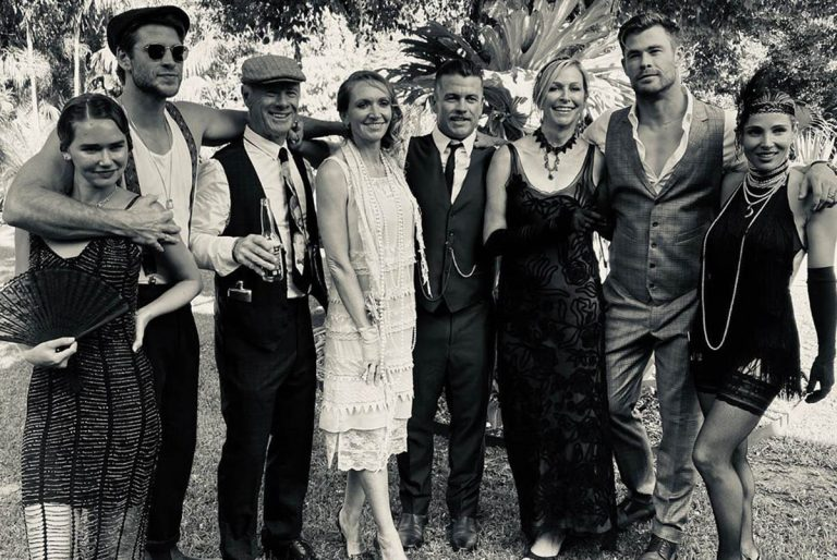 Elsa Pataky y Chris Hemsworth reviven los locos años 20 durante una fiesta familiar