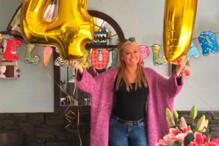 Así celebra Belén Esteban su 47 cumpleaños: con globos y una comida con los suyos