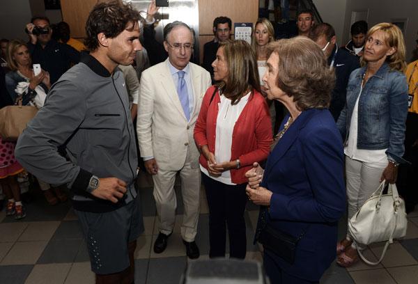 Doña Sofía, Ana Mato y Rafa Nadal