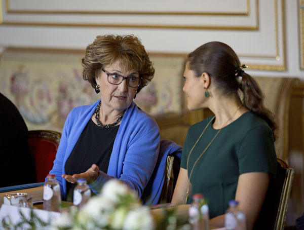 La heredera sueca y la princesa Margarita de Holanda