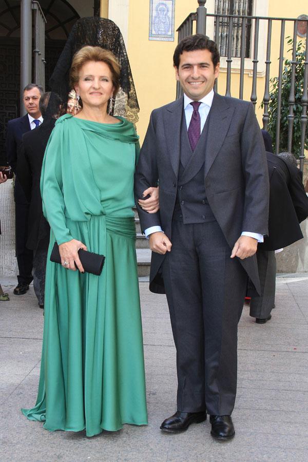 Juan Antonio Zoido con su madre