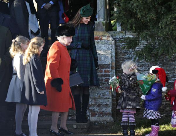 Isabel II y Kate Middleton
