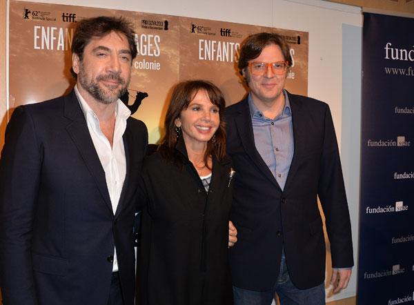 Javier Bardem, Victoria Abril y Álvaro Longoria