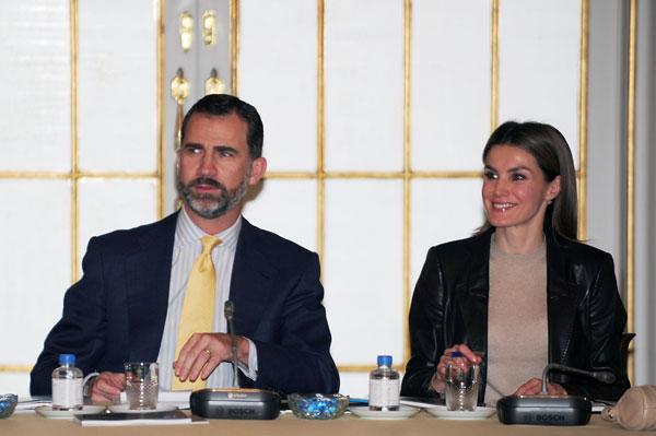 los principes de asturias en la reunion patronato principe de girona