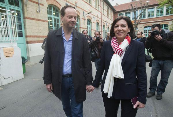 Anne Hidalgo y su marido