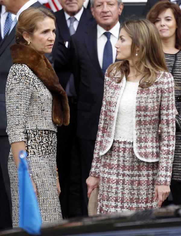 elena de borbon y la princesa letizia